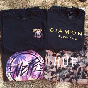 4 men's large t-shirts!